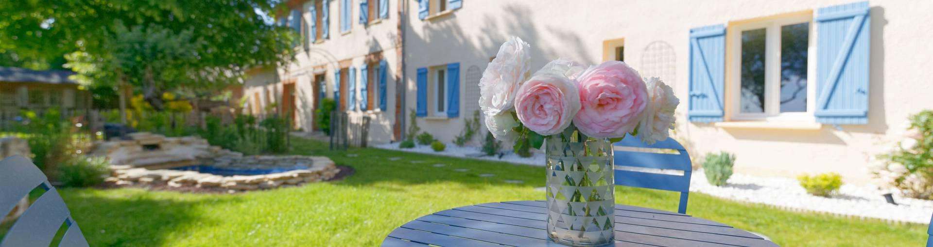 Gite Majorelle de la Maison Bleue, Savignac-Mona, Lombez, Samatan, Savès, Gers, Gascogne, France