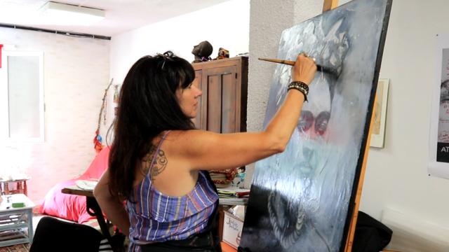 Marie Pénétro, Atelier d'artiste Marie Pénétro, Lombez, Samatan, Savès, Gers, Gascogne.