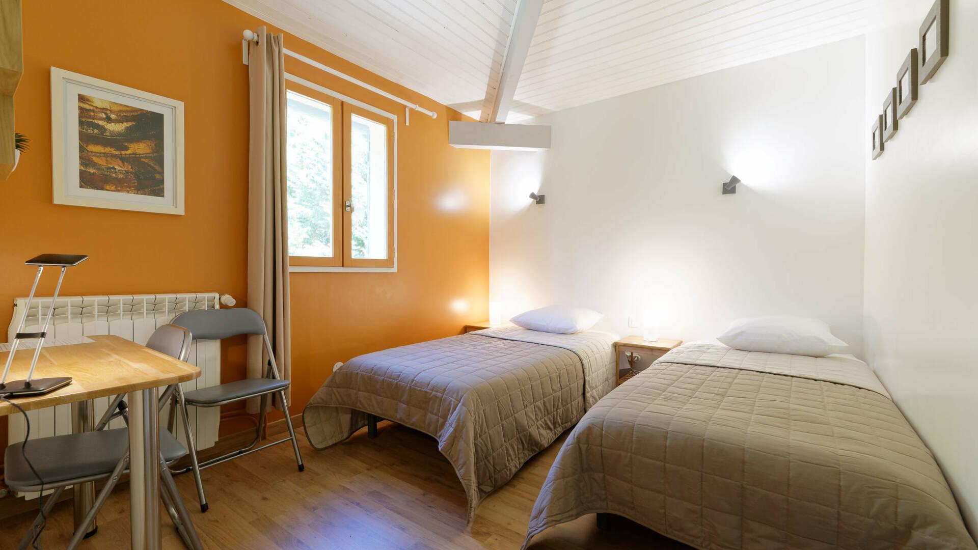 """Bedroom """"Val André"""", Gite La Maison Bleue, Savignac-Mona, Lombez, Samatan, Savès, Gascogne, Gers, France"""