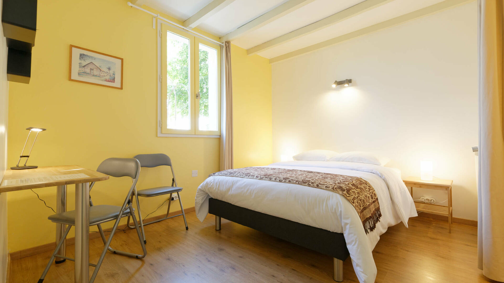 "Bedroom ""Rouletabille"", Gite La Maison Bleue, Savignac-Mona, Lombez, Samatan, Savès, Gascogne, Gers, France"