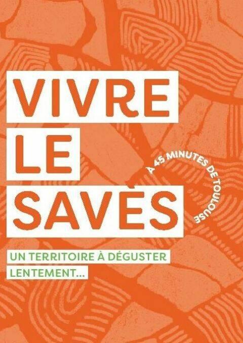 La carte touristique du Savès, Lombez Samatan, Office de Tourisme du Savès, Gers, Gascogne, France