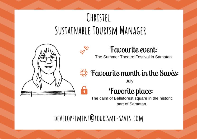 Christel, Sustainable tourism manager, Savès Tourist Information Centre.