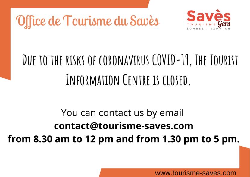 Opening hours Savès Tourism Information Centre (Lombez-Samatan)