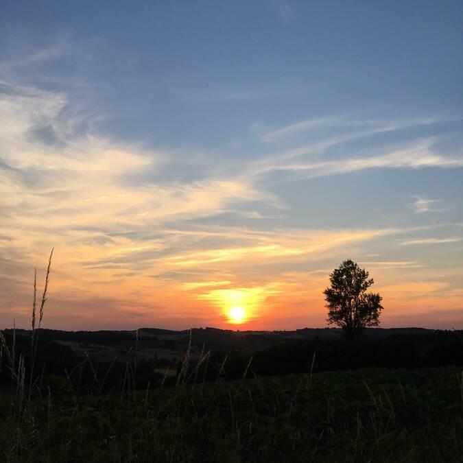 Coucher de Soleil, Montamat, Savès.