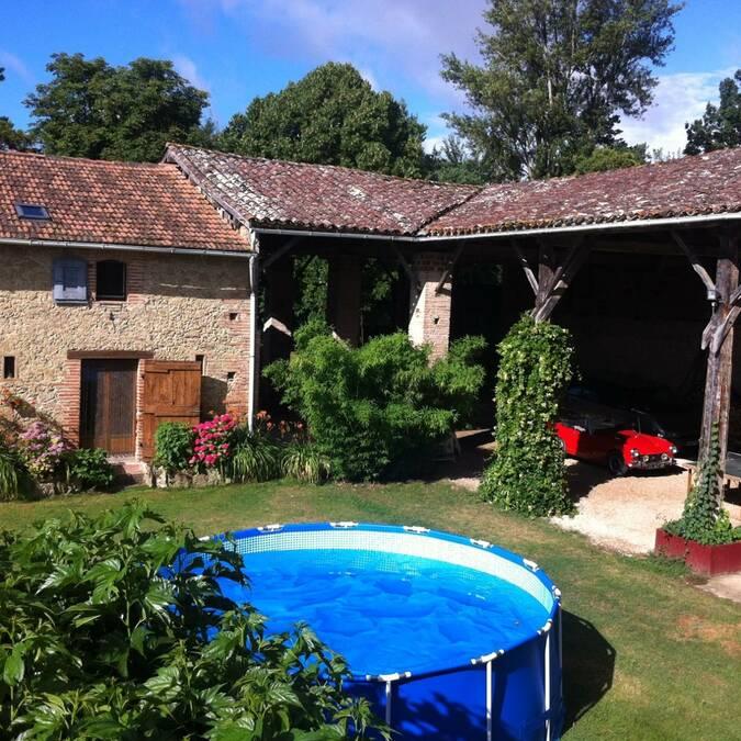 Gîte Micalon, Gaujac, Lombez, Samatan, Savès, Gers, Gascogne, France.